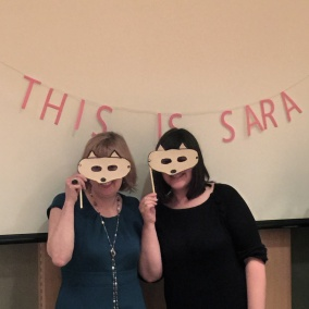 Sara O'Leary, left, with her editor, Tara Walker